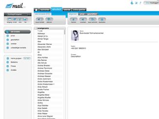 Adressbuch Screenshot