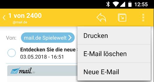 mail.de App drucken