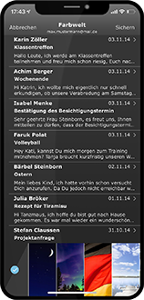 Dunkles Design iOS