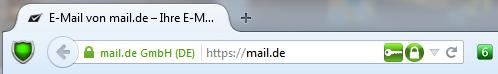 mail.de DANE Firefox