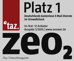 Zeo2 Testsieger mail.de